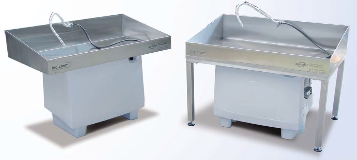 Stainless steel sinks for increased work space and load capacities